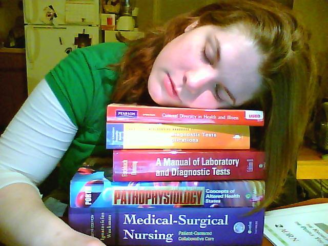 finally into the nursing courses